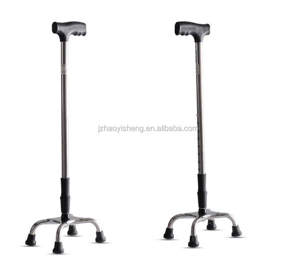 Hongzhu thicker stainless steel 4 leg/4 claws walking cane