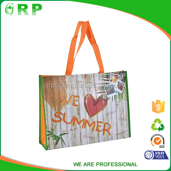 ISO/BSCI Best selling reusable lightweight pp woven korean brand bags
