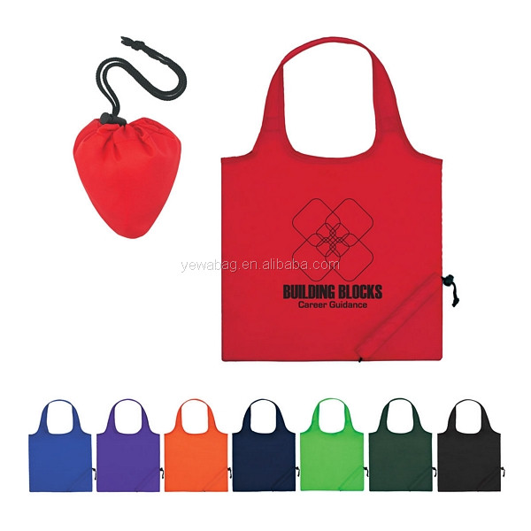 Wholesale price polyester bag Foldaway Tote Bag Custom 210T Nylon Tote Bags foldable polyester bag