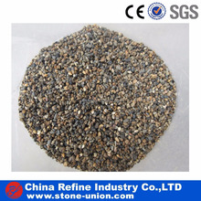 Multicolor river pebble washed round stone