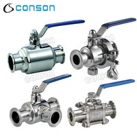 stainless saintary food grade stainless steel ball valve