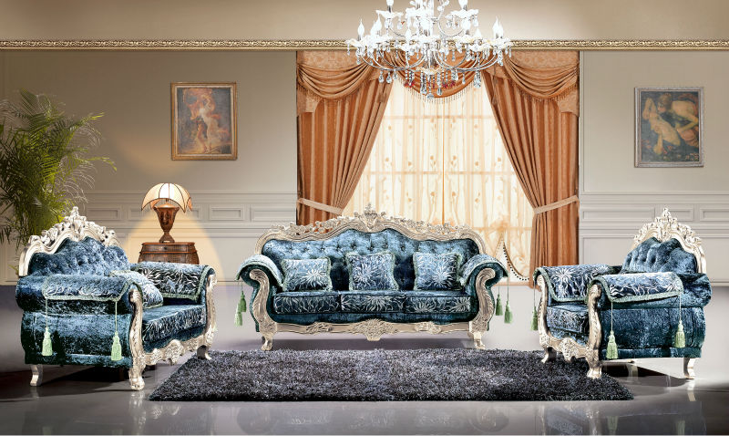 2014 New model unique sofa set is used solid wood, fabric and high density sponge for the living room furniture