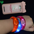 2018 Pop Vocal Concert Color Sound Control Glowing Wristband With Custom Logo