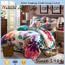 Microfiber reactive printed now design bright color comforter sets wedding comforter set