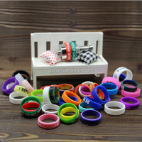 FDA Non-slip Ecig Mechanical Mod Silicone Custom Vape Bands decorative and protective top quality Vapor mod Band for battery