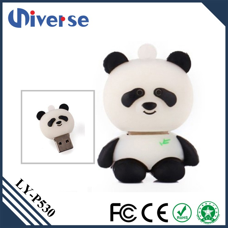 2Gb 4Gb 8Gb 16Gb 32Gb 64Gb Panda Shape Usb 2.0 Flash Drive Fancy Silicon Cover Pen Drive