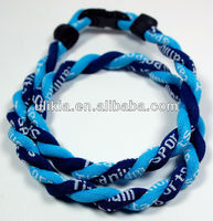 Lastest Twist titanium sports necklace tornado 2 rope