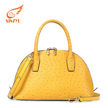 Wholesale No Minimum Ostrich Leather Handbag Two Sided Shoulder Bags For Girls
