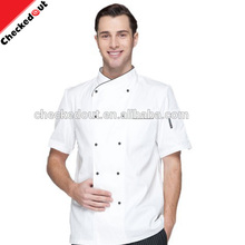 New style design hotel white high grade french modern double-breasted chef uniforms on sale