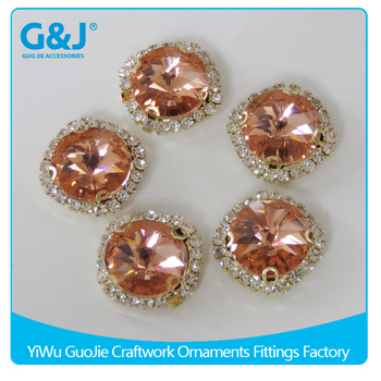 guojie brand Wholesale Round Shape for Garments Accessories Imitation gem rhinestone