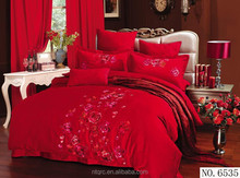 100% cotton hotel plain holiday comforter sets king size luxury brand bedding sets 3d flower embroidery wedding set