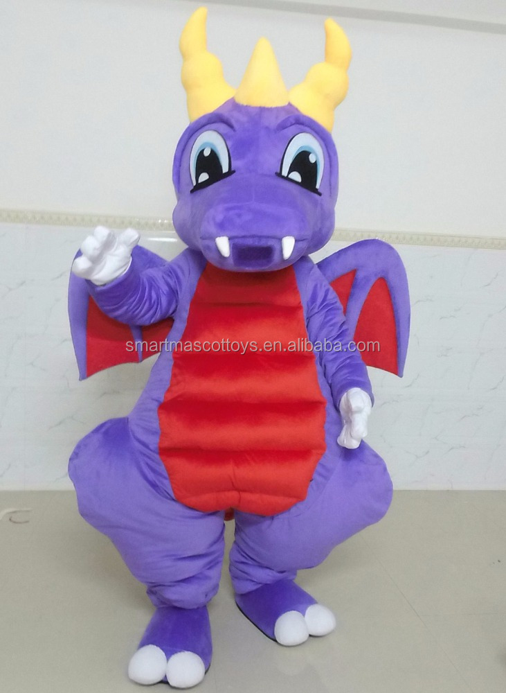 Good vision lovely purple adult dragon mascot