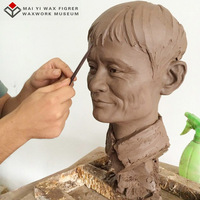 High quality lifelike clay draft sculpture of famous male