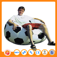 2016 fashionable Flocked PVC inflatable round sofa cheap inflatable sofa
