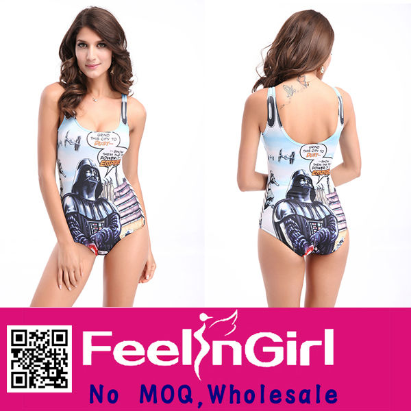 Wholesale New Design Fancy Print Sexy Brand Name Swimsuit