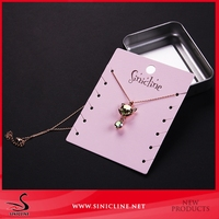Sinicline die cut custom printed necklace card display