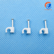 Plastic Wall Double Cable Nail Clip 6MM Wire Cable Clip For Fix Cable