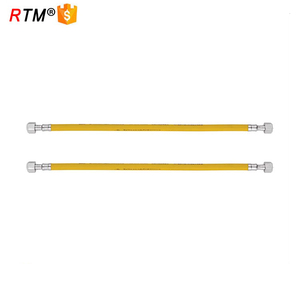 Yellow stainless steel gas hose corrugated flexible natural gas hose
