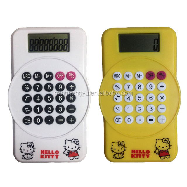 Clip 8 digit calculator ,calculator with magnet,hot sale calculator