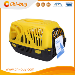 Chi-buy Airline Pet Carrier Fashion Plastic Pet Carrier Yellow and Black Free Shipping on order 49usd