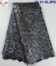 CL11-15 Embroidered Chemical African Cupion Guipure Lace Fabric/African Lace Fabrics/Guipure lace