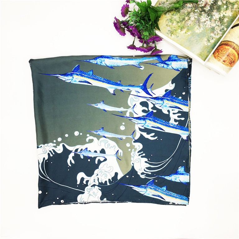 HIgh quality China manufacturer silk scarf custom digital print