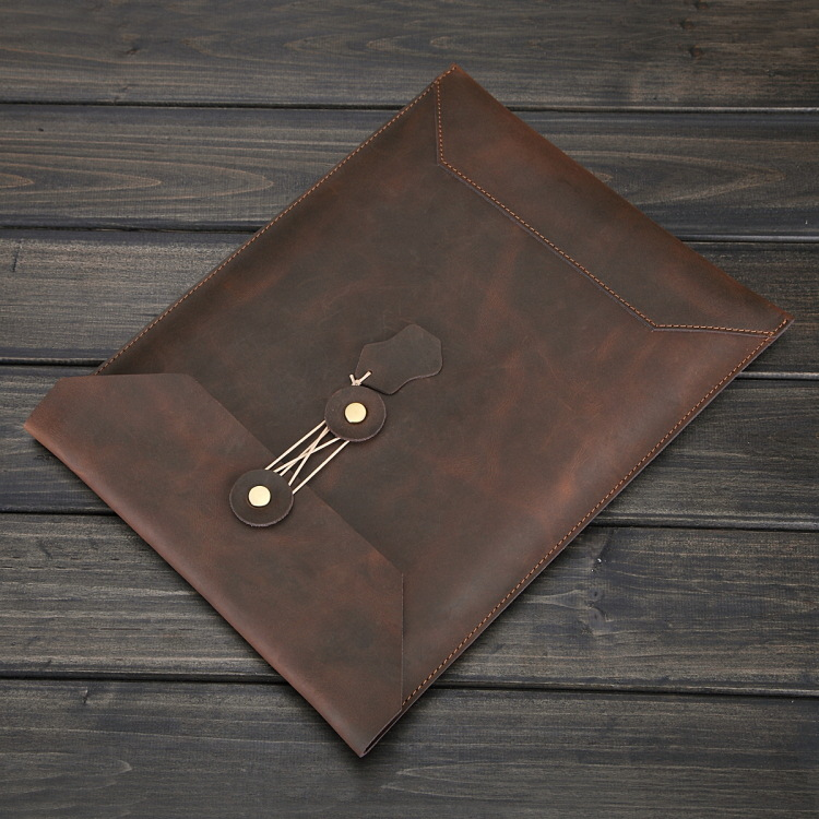 "Leather Laptop Sleeve Envelop Case for Apple MacBook 13"" and 13 - 14 inch Notebook Computer"
