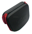 GC---20CM length PU leather with nylon lining Eva moulded cosmetic cover EVA bag
