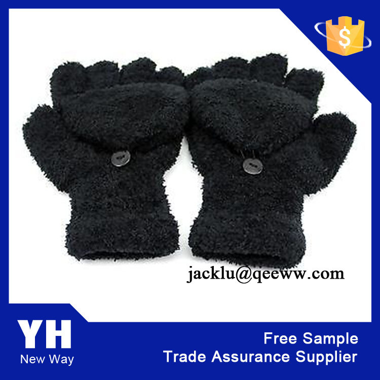 China High Quality 2015 Microfiber Knitting Feather Gloves & Mittens
