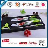 colored stainless steel ceramic knife set