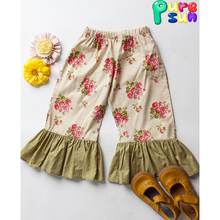 Wholesale baby girls boutique ruffle icing leggings kids toddler wear pants full of flower
