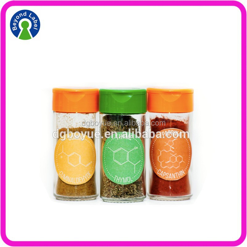 Printing Spice Bottle Stickers,Adhesive Printing Labels For Spice Jars