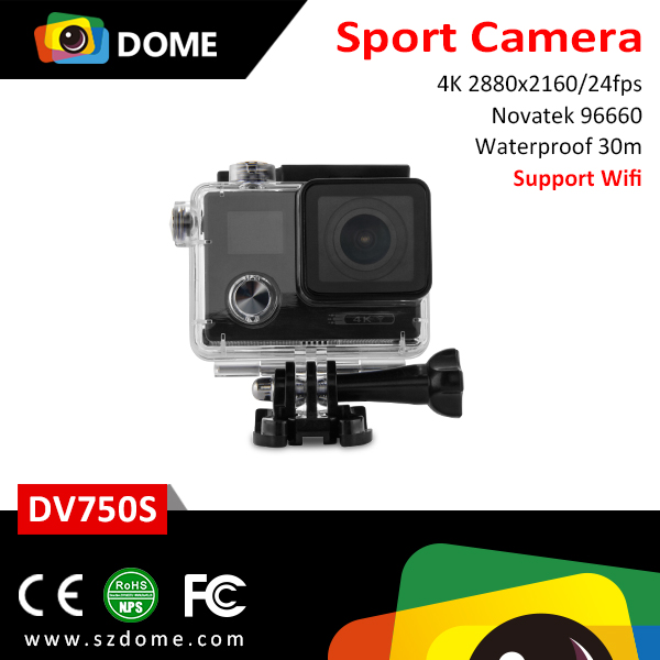 2017 Hot welcome sport camera waterproof 170 degree lens 4k dual screen Sports Electronic