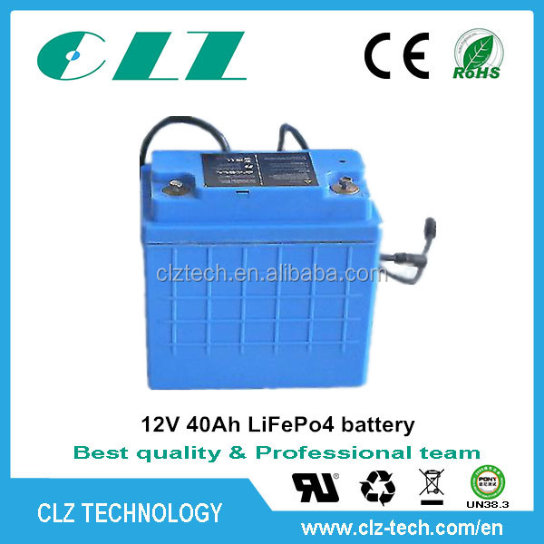 12V 24V 48v 50ah 60ah 100ah lithium iron phosphate the battery for sight-seeing car