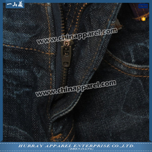 Factory price mens dark blue jean shorts made in China