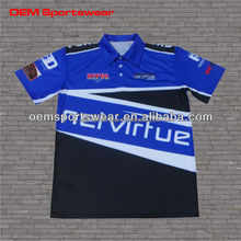 Breathable mesh jerseys custom racing team sports wear