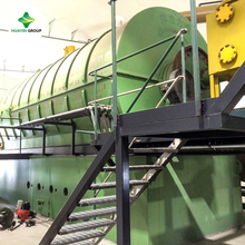 waste PE/PP/PS plastics to cracked oil pyrolysis machine production line