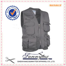 2017 hot sale mans hunting vest with multi pocket