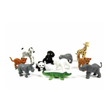 ICTI certificated custom made small plastic Zoo wild Animals set toy Figures
