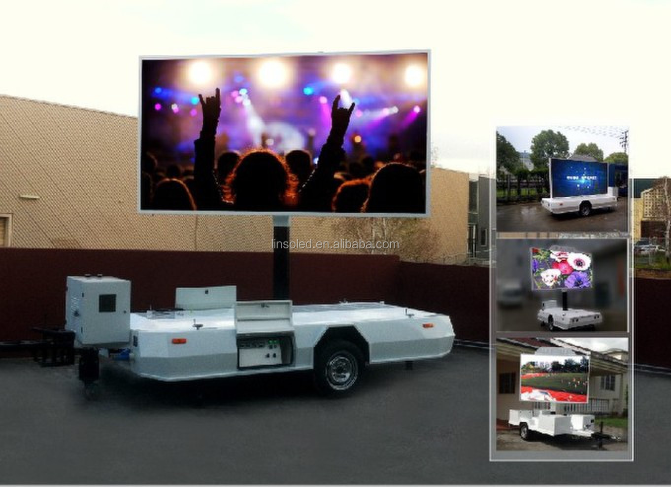 Shanghai LINSO LED Display Vehicle, Mobile Advertising Trailer, LED Screen on trailers