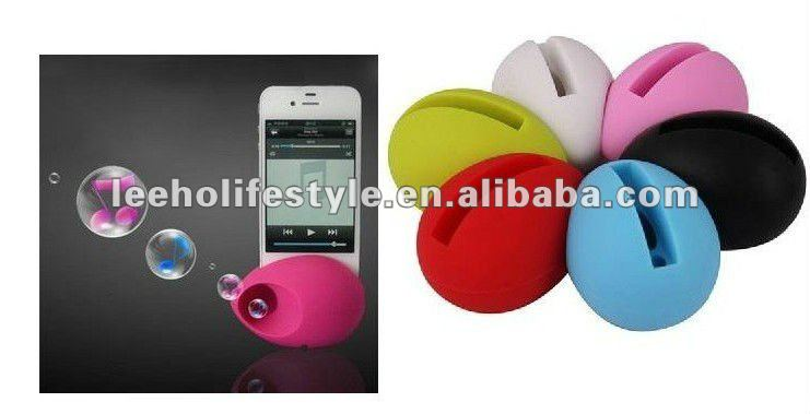 For iPhone 4 & 4S iphone silicone amplifier speaker stand