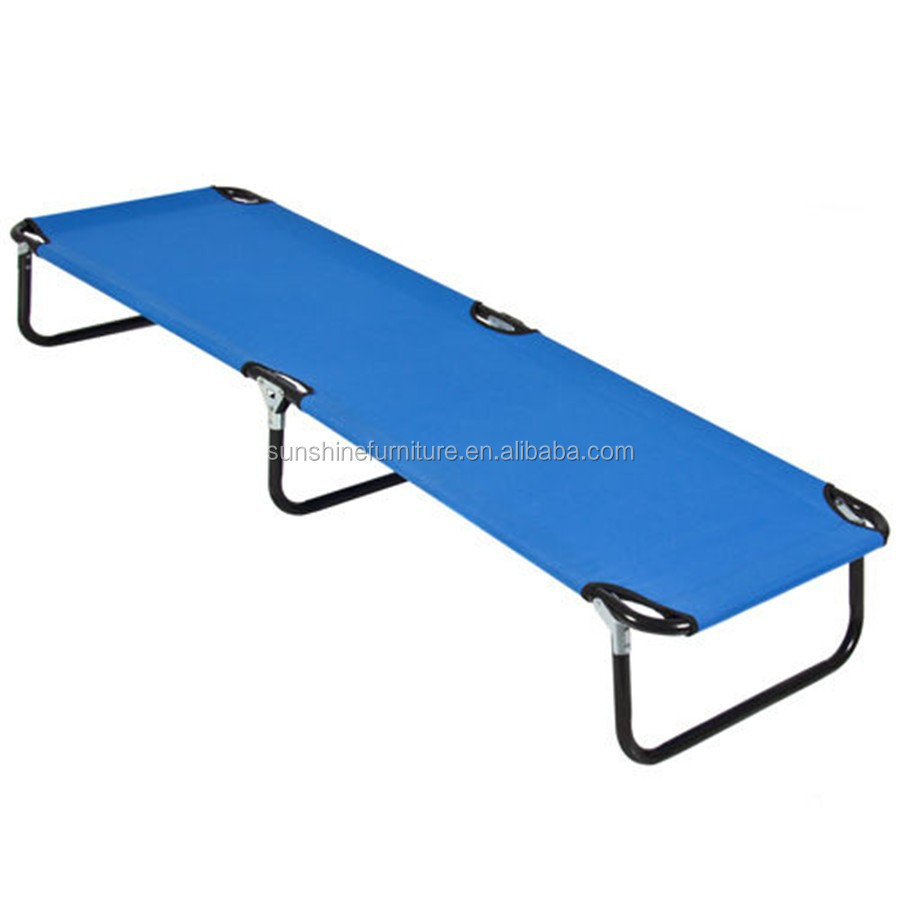 cheap steel frame adults, children, explorers, or house guest portable camping folding bed