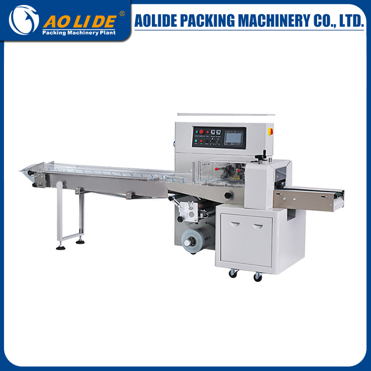copra cake packing machine cake & bread packaging machine ALD-250B ,flow bread packaging machine manufactory