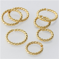 6mm Yellow Gold Filled Round Twist Wire Jump Ring