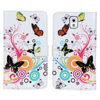 Flora wallet leather case for samsung galaxy note 3/iii n9000 n9002 n9005
