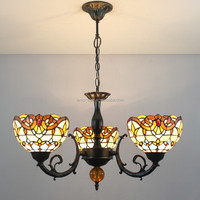 S00308H023, 3 branches fancy style living room tiffany chandelier lamp for wholesell