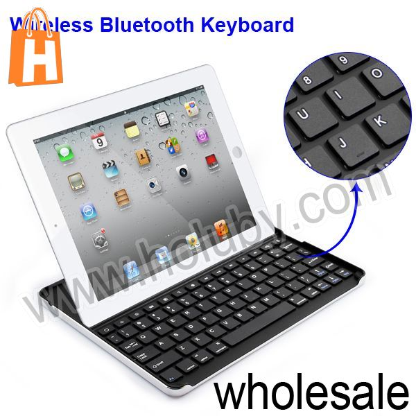 New Products for iPad 2 3 4 Wireless Keyboard,Aluminium Alloy Bluetooth Keyboard for iPhone 5 4 4S