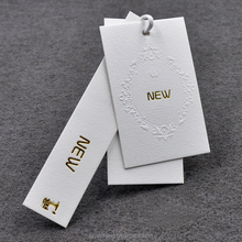 High quality garment fashion Customized Printed Clothing string hang tag swing hang tag