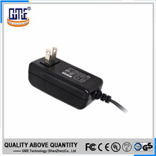 EN60950 60065 wall mounted plug ac dc adapter 12v 2a with indicating light