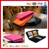 Zipper Travel Passport Credit ID Card Document Holder Case Bag Organizer Wallet